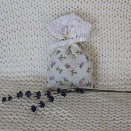 Levendulával töltött virágos zsák